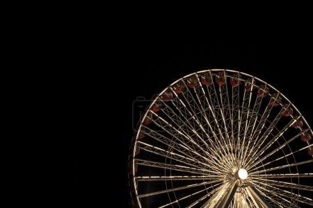 ferris wheel at night in chicago