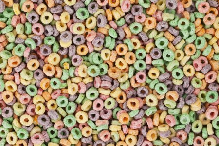 Photo for Fruit Loops cereals in a background image - Royalty Free Image
