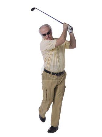 old male golfer