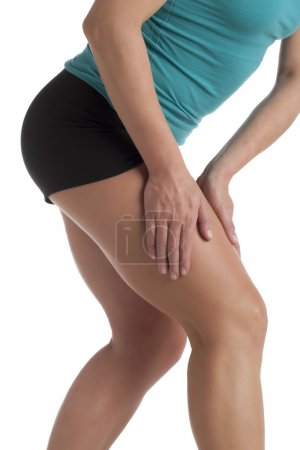 a woman leg with calf pain