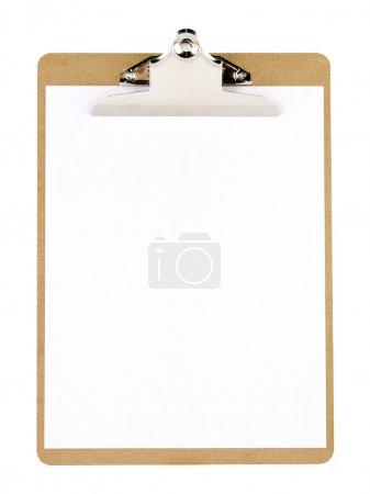 Clip board and paper
