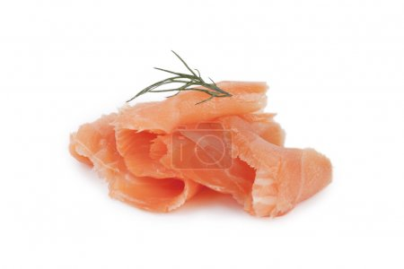 Smoked salmon with parsley on top