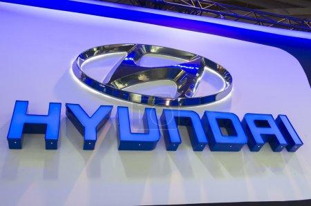 Hyundai Logo at car show