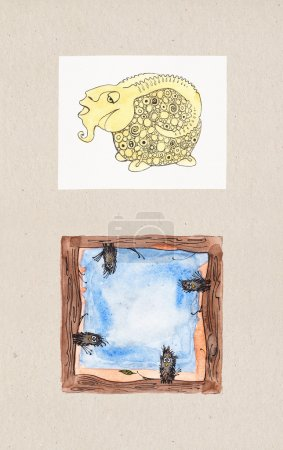 Watercolor illustrations of Animal Themes