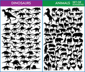 Dinosaurs and animals