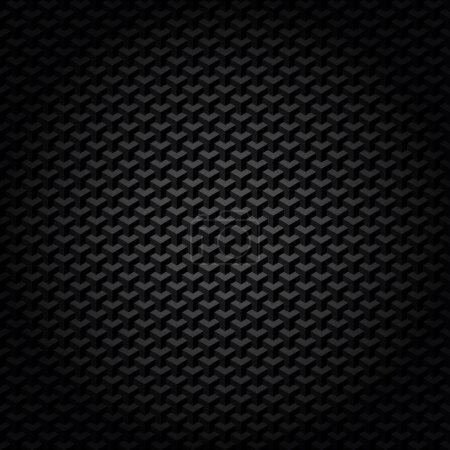 Illustration pour Motif géométrique noir - image libre de droit