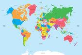 Politická mapa světa vektoru