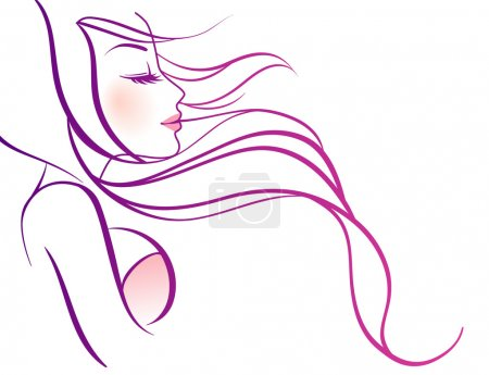 Illustration for Vector illustration of Beauty woman pic - Royalty Free Image