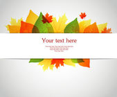 Vector illustration of Vector illustration of Autumn leafs back