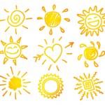 Vector illustration of Hand-draw sun set...