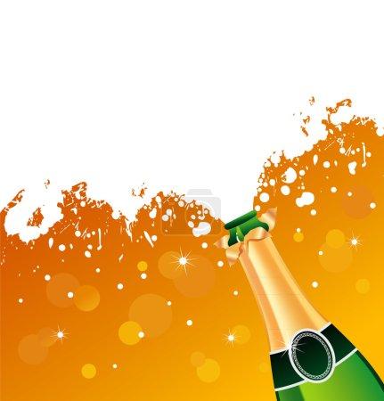 Illustration pour Illustration vectorielle du champagne - image libre de droit