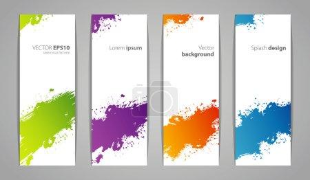 Vector illustration of Splash designs