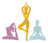 """Постер, картина, фотообои """"красавица, делающая youga упражнения"""""""