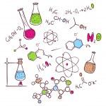 Vector illustration of Hand draw chemistry backgro...