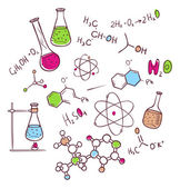 Vector illustration of Hand draw chemistry background