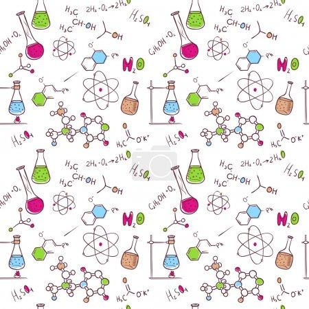 Illustration pour Illustration vectorielle du schéma chimique du dessin à la main - image libre de droit