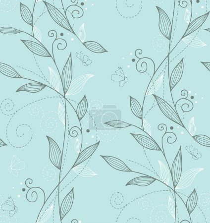 Illustration for Vector illustration of Seamless floral pattern - Royalty Free Image