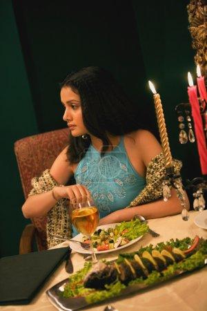 Woman enjoying a meal