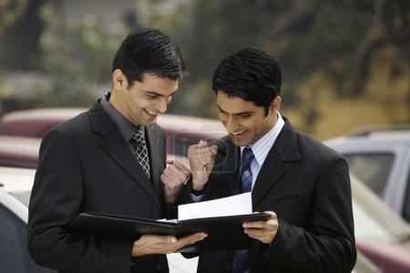 Executives sealing the deal