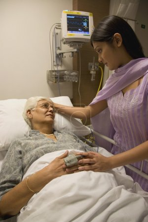 Relative visiting a patient