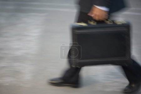 Man carrying a briefcase