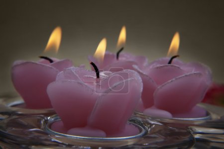 Decorative pink candles