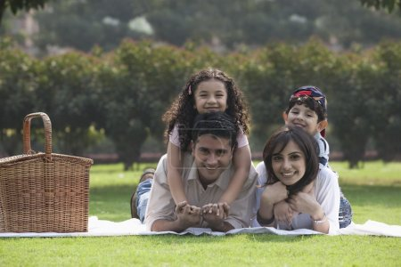 Family enjoying at a picnic