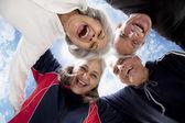 Portrét starých lidí se těší