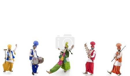 Sikh people dancing