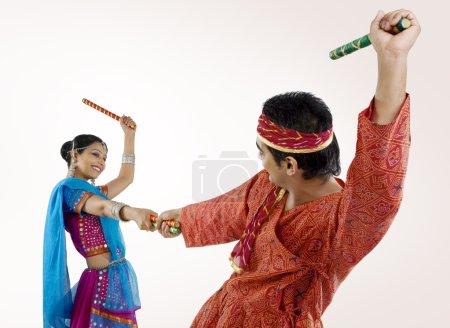 Gujarati woman dancing