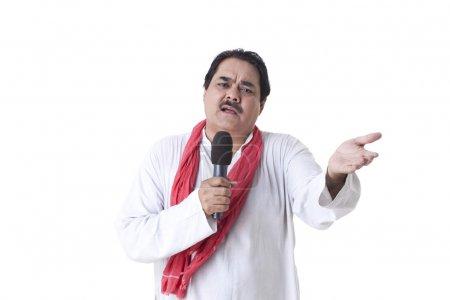 Politician giving speech