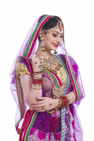 Shy Indian bride