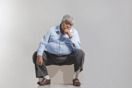 Obese old man