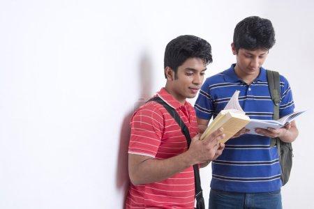 university students reading books
