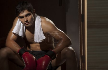 Young male Indian boxer
