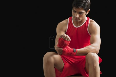 Young  Indian boxer