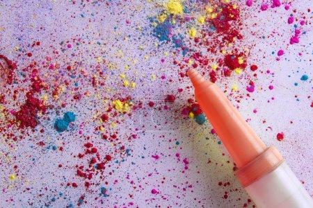 Peinture en poudre colorée