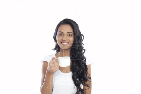Woman with a cup of coffee