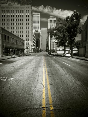Photo for An empty street in Downtown Tulsa - Royalty Free Image