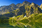 Tatra Mountains, Poland. Landscape of mountains above sea eye