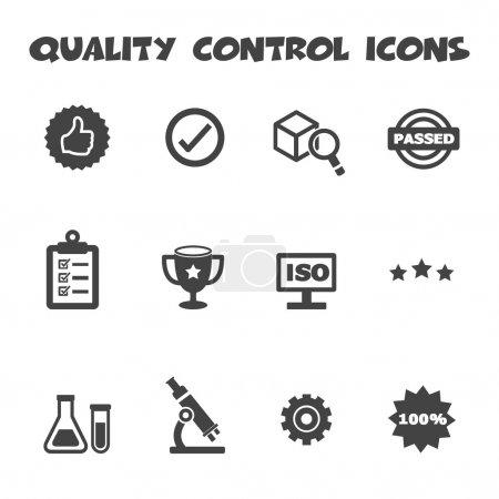 Illustration for Quality control icons,mono symbols - Royalty Free Image