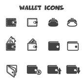 Wallet icons mono vector symbols