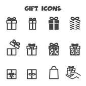 Gift icons mono vector symbols