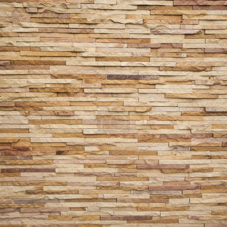 Photo for Stone tile brick wall texture - Royalty Free Image