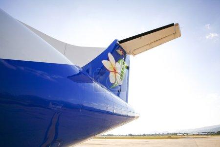 LAOS, NOVEMBER 15:Close up laos airline at the airport - novembe