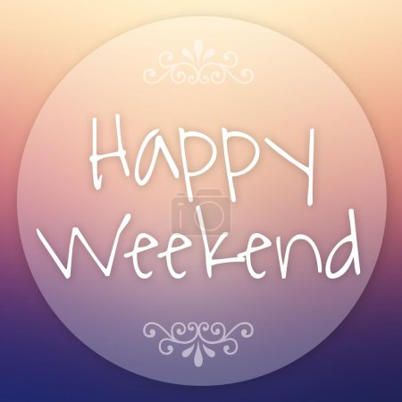 Photo for Happy weekend Summer Background. - Royalty Free Image
