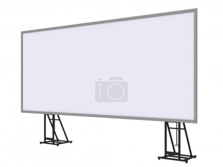 3d render of a blank roll up banner