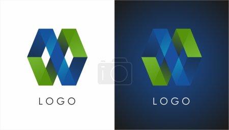 Illustration for Stylish blue-green logo - Royalty Free Image