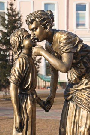"Irkutsk, Russia - 2 november 2013: Sculpture ""Mother and Daughter"""