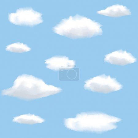 Illustration for Seamless background with clouds on sky. - Royalty Free Image